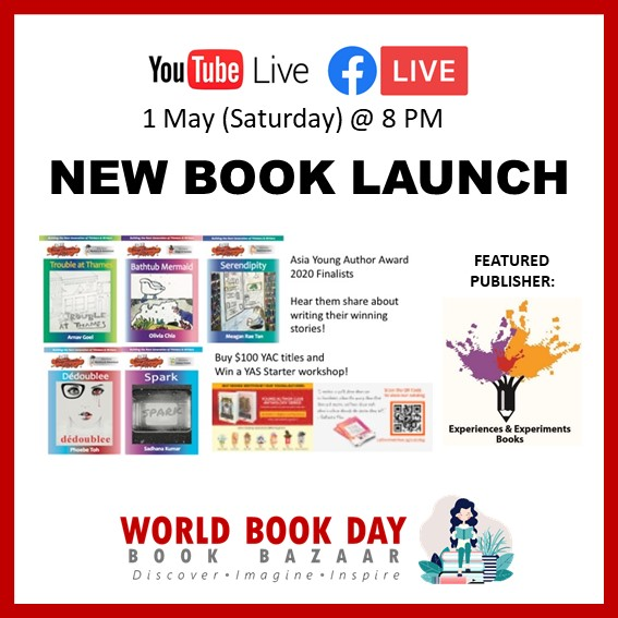 Singapore Book Publishers Assocication New Book Launch Experiences and Experiments Icon